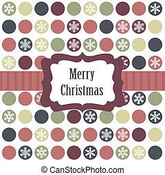 cartão natal, com, natal, bolas