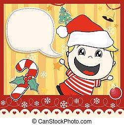 cartão natal, criança