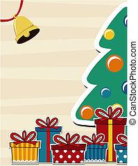 cartão, natal, fundo