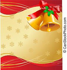 cartão natal, sinos