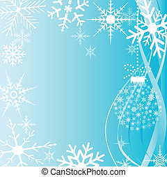 cartão natal, snowflakes
