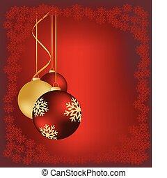 cartão natal, vermelho