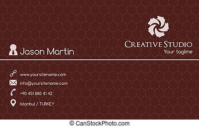 cartão negócio, criativo