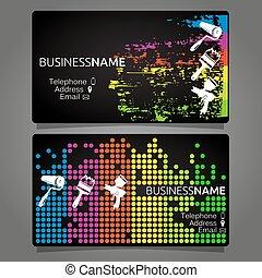 cartão negócio, para, quadro, modelo, desenho