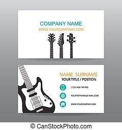 cartão negócio, vetorial, músico, fundo