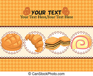 cartão, pão