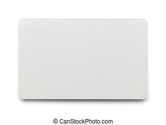 cartão plástico