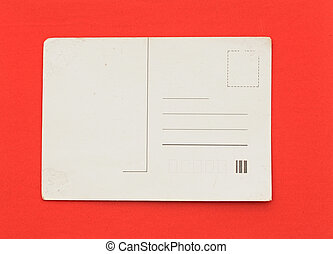 cartão postal, antigas, fundo, vazio, vermelho