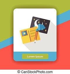 cartão postal, apartamento, viagem, ícone
