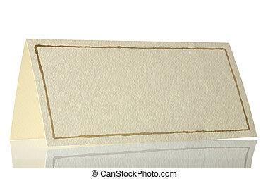 cartão postal, branca, isolado, vazio