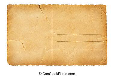 cartão postal, costas, antigas