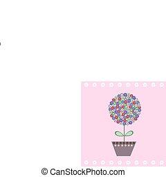 cartão postal, cute, flores