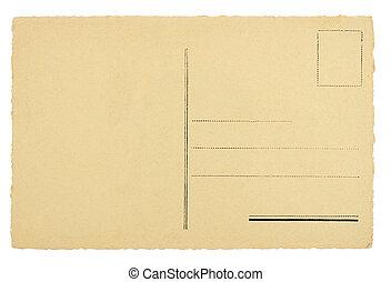 cartão postal, em branco
