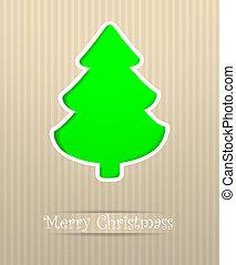 cartão postal, feliz, vetorial, natal, ilustração