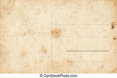 cartão postal, grunge, em branco