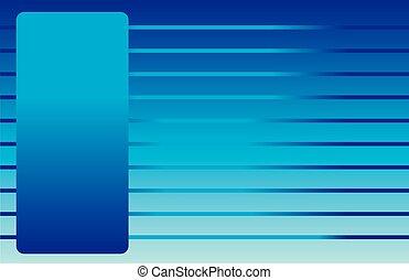 cartão postal, linhas azuis
