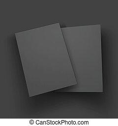 cartão postal, negócio, mockup, revista, livreto, ou, folheto, template., cartão