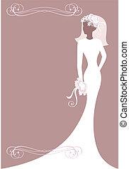cartão postal, noiva