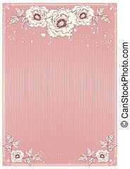 cartão postal, peonies, flores