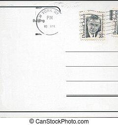 cartão postal, selo, em branco