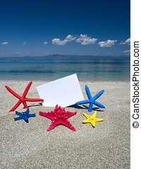 cartão postal, starfish