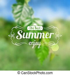 cartão postal, verão