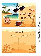 cartão postal, viagem