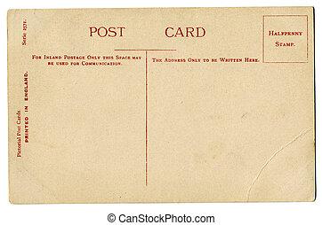 cartão postal, vindima, britânico