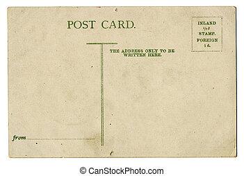 cartão postal, vindima, em branco