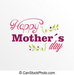 cartão postal, vindima, feliz, dia, mães