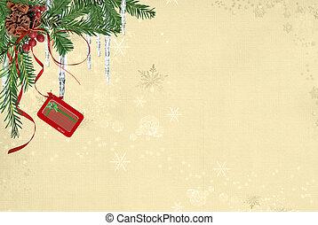 cartão presente, penduradas