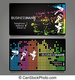 cartão, quadro, desenho, modelo, negócio
