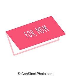 cartão, saudação, mãe, ícone