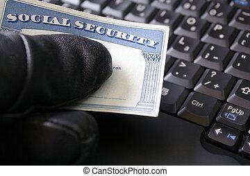 cartão, segurança, roubo, identidade, social