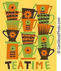 cartão, teatime