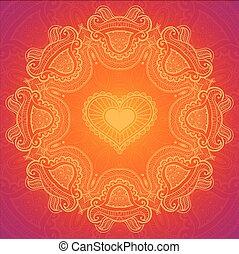cartão,  Valentine, Renda, Dia, Saudação