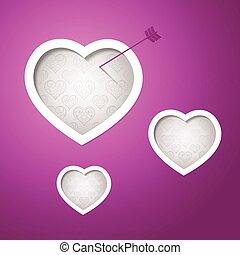 cartão, valentines, desenho, dia, fundo