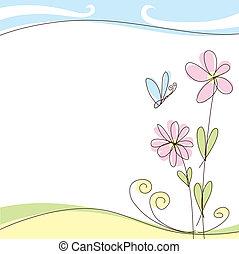 cartão, verão