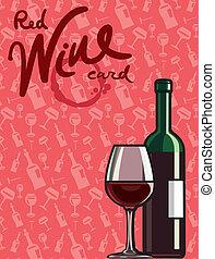 cartão vermelho, vinho