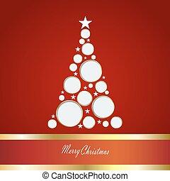 cartão, vetorial, árvore, natal, ilustração