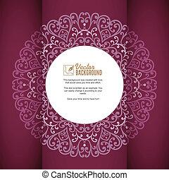 cartão, vindima, saudação, fundo, ornamentos, convite