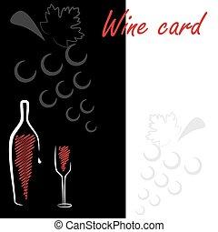 cartão, vinho