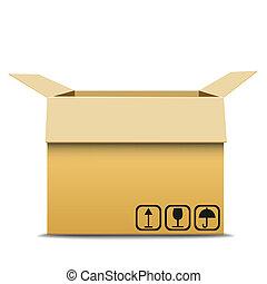 cartón, box.