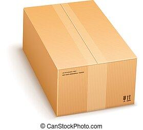 cartón, caja de embalaje, cerrado
