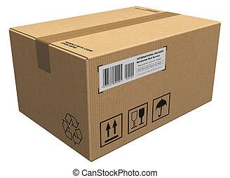 cartón, paquete