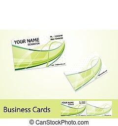 cartões, abstratos, negócio