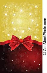 cartões, arcos, saudação, vermelho