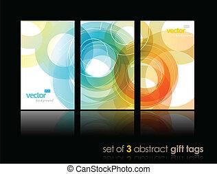 cartões, circles., jogo, presente