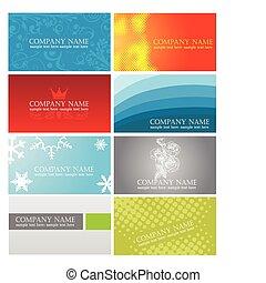 cartões, coloridos, negócio