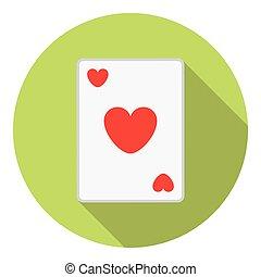cartões, coração, tocando, paleto